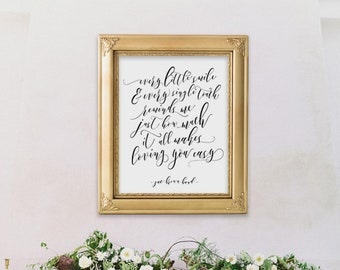 Printable Wedding Sign | Zac Brown Band | Digital Download | Wedding Signs | Loving You Easy | Printable Wedding Signage | Love Quote