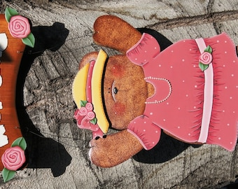 "Mother's Day - Wooden ""Seasonal Bear n Friends"" Interchangeable Outfit"