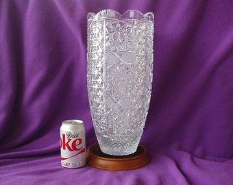 Turkish Cut Crystal Vase