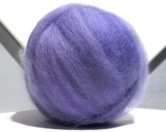Hyacinth Blue roving wool roving, Felting wool, Spinning Fiber, light blue wool, light blue violet wool roving