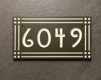 Mission Style House Number