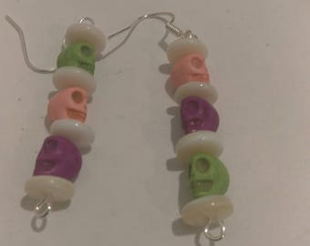 Skull Face Earrings