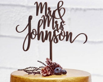 Personalized Wedding Cake Topper #1