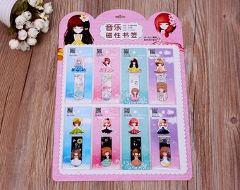 Magnetic bookmark set of 2 girls