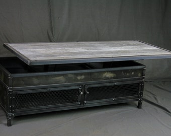 Double Lift Top Coffee Table Adjustable Height Coffee Table