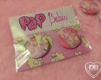 Pop Babes (button set)