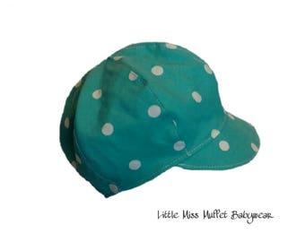 Boy's Newsboy Cap, Turquoise Hat, Summer Hat, Boys Hat, Boys Cap, Baby Shower Gift, Baby Cap, Baby Hat, Baby Boy Hat, Baptism Cap