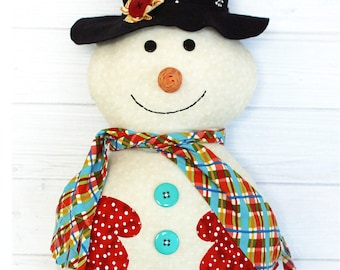 Mr Snowjangles Snowman sewing patterns