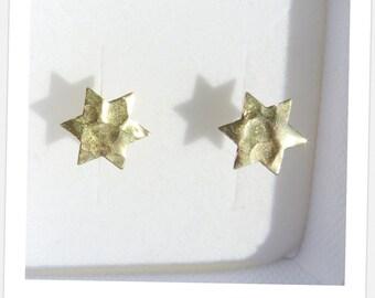 14K Gold Filled Star of David Earrings, Gold Stud Earrings, Gold Post Earrings, Jewish Jewelry, Judaica Jewelry, Gold Star of David, Gift.