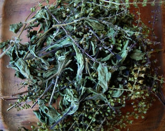 Holy Basil, Dried, sacred Tulsi, adaptogen herb, herbal tea, diy herbal remedies, gifts for herbalist