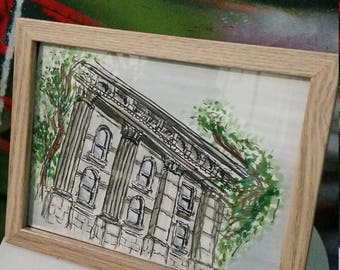 State Library of Victoria- original framed artwork