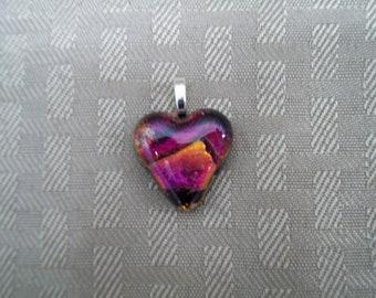 Beautiful Dichroic Heart Pendant