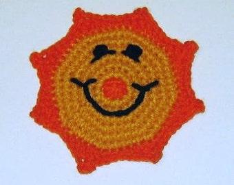 PDF Pattern - Crochet Sunburst Coaster