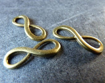 2 accessories for jewelry antique bronze infinity sign