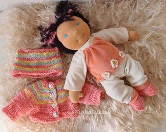 "Waldorf inspired baby cloth doll steiner soft doll natural fiber toy doll Waldorf doll 14"" handmade doll, human figure organic Waldorf doll"