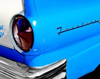 1957 Ford Fairlane Light & Lettering Car Photography, Automotive, Auto Dealer, Classic, Car, Mechanic, Boys Room, Garage, Dealership Art