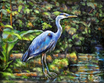 At the Water's Edge, The Great Blue Heron