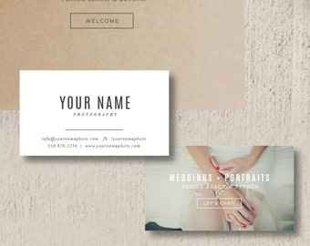 Photography business card template etsy business cards photographer colourmoves