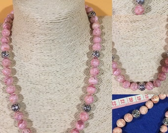 Necklace in Rhodochrosite