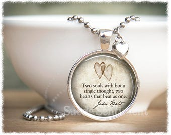 John Keats Quote Necklace • Book Lover Jewelry • Gifts For Lovers • Girlfriend Gift • Literary Quotes • Literary Gifts