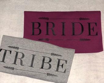 bride tribe tshirts