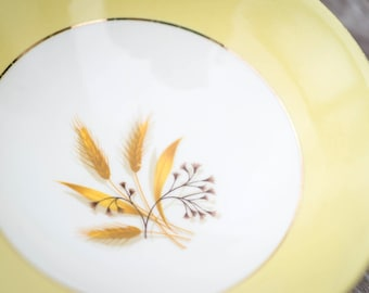 Vintage Autumn Gold Soup Bowl - Century Service Corp. by Homer Laughlin - Semi Vitreous - 22 Kt. Gold - 1950's