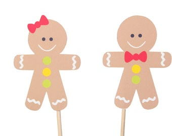 Gingerbread Party Picks, Gingerbread Girl, Gingerbread Boy, Gingerbread Birthday, Gingerbread Man, Gingerbread Cupcake Topper