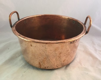 Large Antique Copper Pan From France
