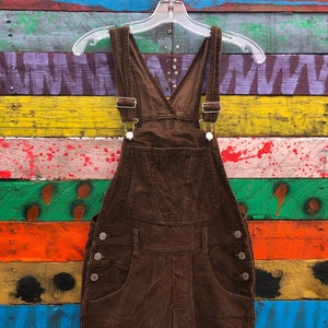 medium- 90s corduroy overalls