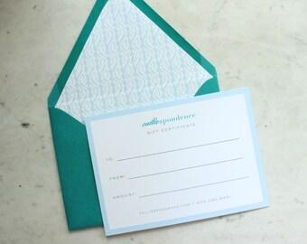calliespondence gift certificate