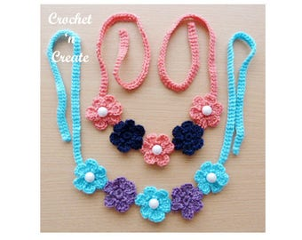 Small Flower Necklace Crochet Pattern (DOWNLOAD) CNC50