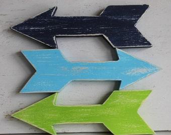 Arrows. Wood Arrows.Set of 3 Arrows. Home Decor. Kids Room Decor. Nursery Decor. Rustic.