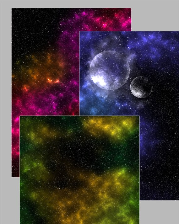 Nebula Digital Paper Galaxy Instant download starry night