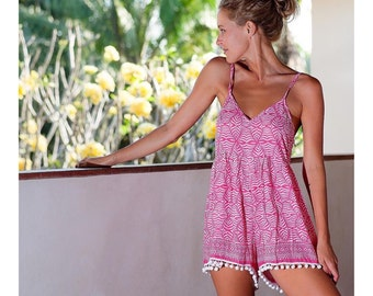 Short Pink Beach Dress
