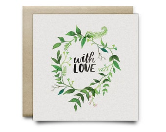 With Love Small Greeting Card