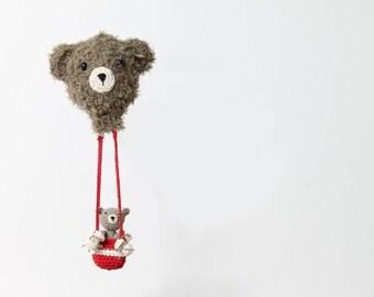 Amigurumi hot air balloon baby teddy bear