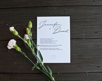 Wedding Invitation - Heart (Digital File only)