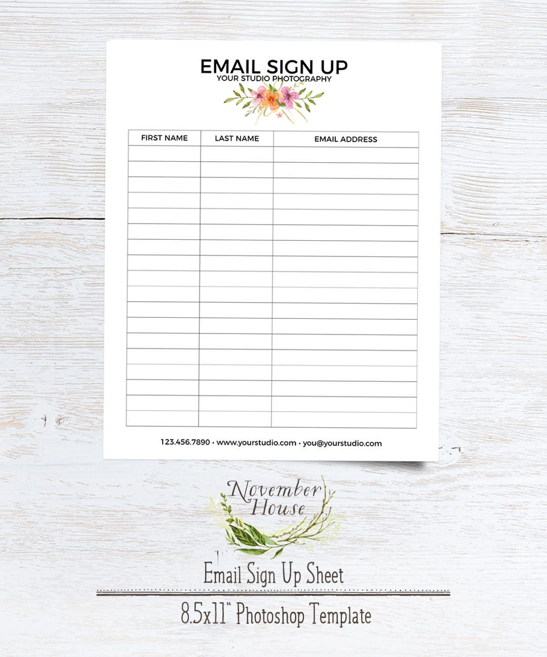 E-Mail-Anmeldung Blatt Fotografie Formen Plus