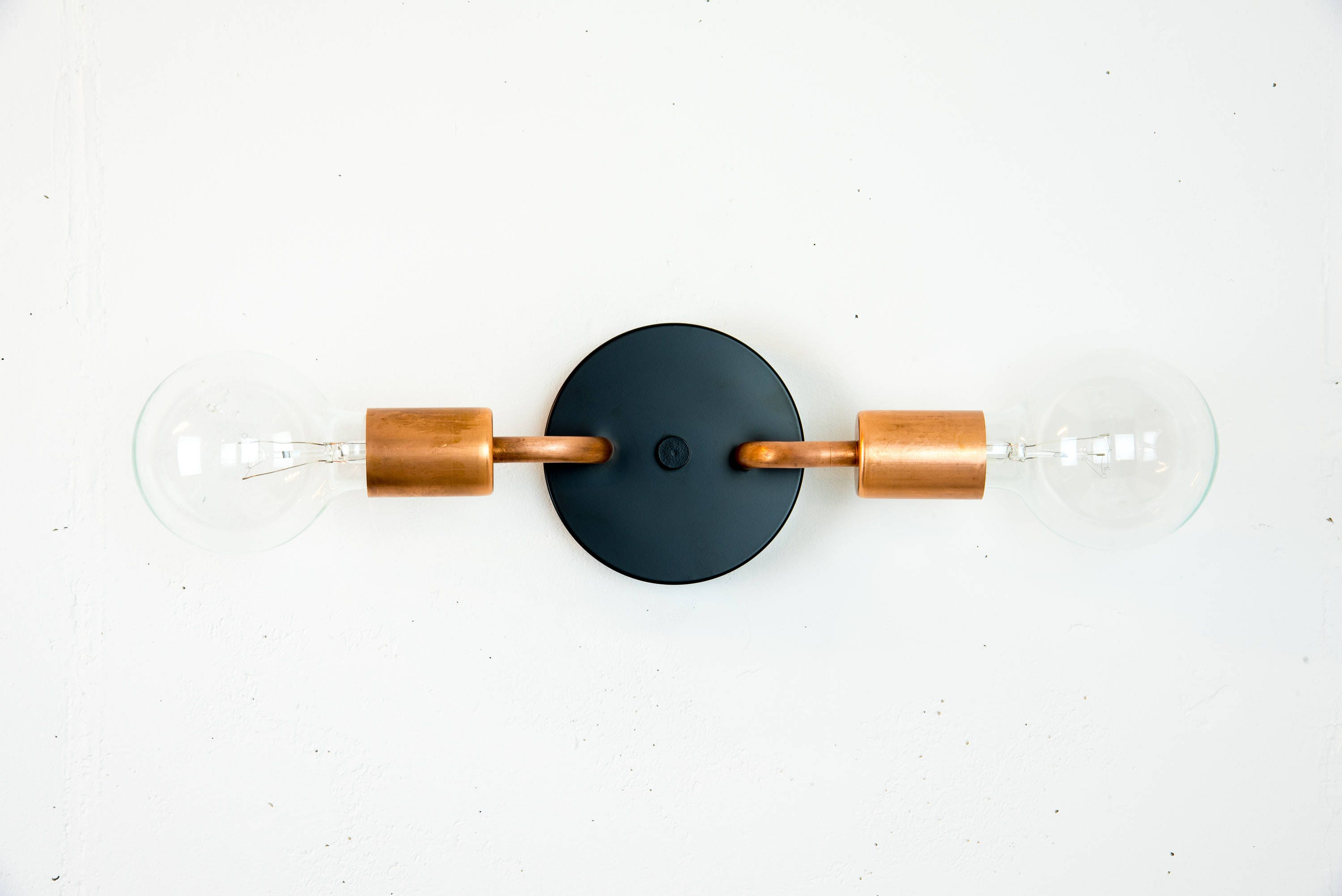 plate sconce circles wall koeh copper geometric