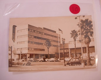 Vintage Photo Postcard RPPC of the Columbia Broadcasting Station