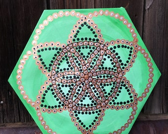Dand dollar II Hexagon painting