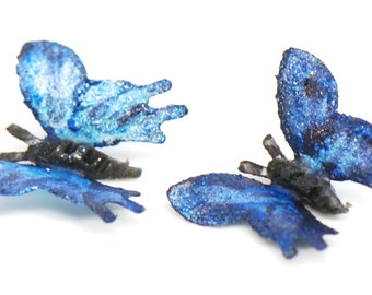 1:12 Blue Morpho Butterflies Set of 2