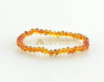Baroque Amber bracelet, 0927