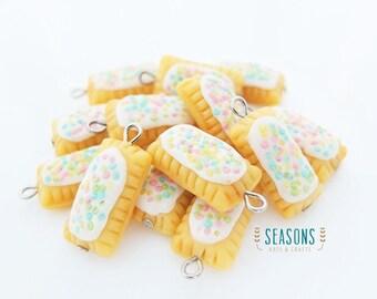 Poptart Clay Charm - Jewelry Supply - Miniature Food - Food Jewelry - Planner Charm - Phone Charm - Stitch Marker