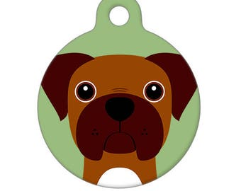 Pet ID Tag - Boxer Brown Snout Pet Tag, Dog Tag