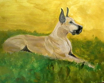 Great Dane, Dog Painting, Gentle Giant