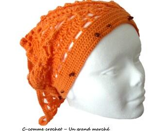 Bandana or head crocheted Triangle: fashion accessory
