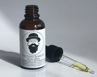 Five Points Beard Oil Bone Alley - Beard Conditioner Mens Grooming Gift Beard Moisturizer Organic Beard Oil