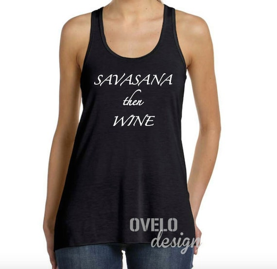 Savasana Then Wine Flowy Racerback Tank Top