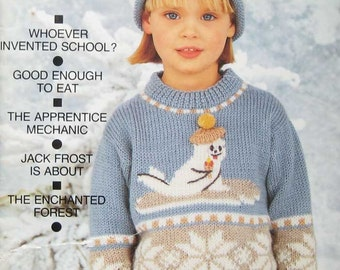 Pingouin Childrens Sweater Knitting Magazine Autumn Winter